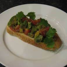 Avocado and Cherry Tomato Bruschetta