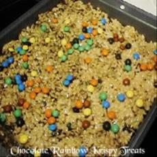 Chocolate Rainbow Krispies Treats