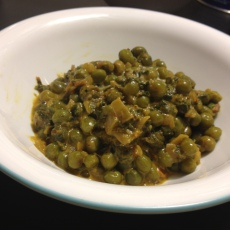 Methi Malai Mutter - Fenugreek leaves and Peas in creamy sauce