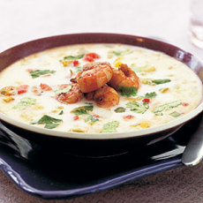 Ginger Coconut Seafood Soup